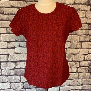 Talbots NWT Red Lace Top Size Large
